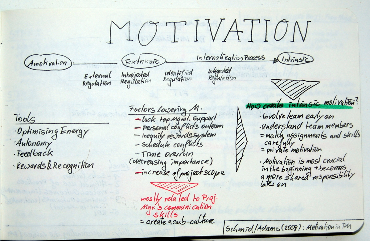 Team Motivation on Projects - a Project Manager's View